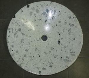 Grey and White Quatz Counter Top