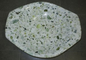 Jade Fruit Bowl Oval Top V